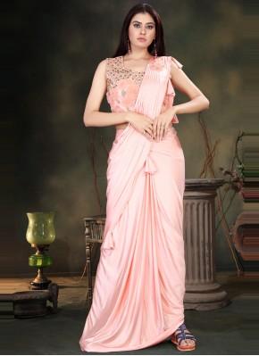Catchy Handwork Classic Designer Saree