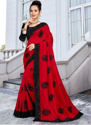 Catchy Resham Ceremonial Trendy Saree