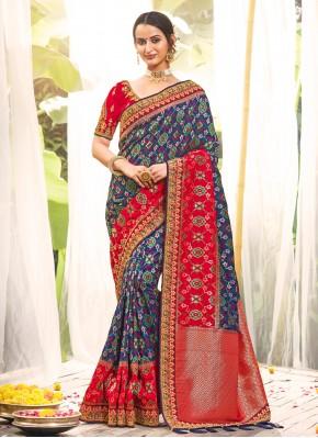 Catchy Silk Multi Colour Classic Saree