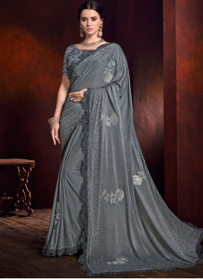 Celestial Embroidered Trendy Saree