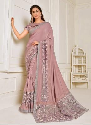 Celestial Pink Sangeet Trendy Saree