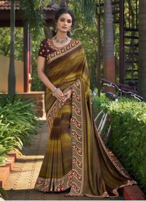 Chanderi Classic Designer Saree in Multi Colour