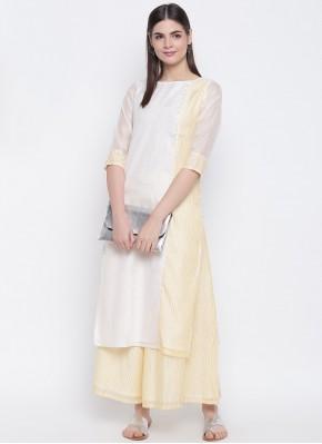 Chanderi Off White Party Wear Kurti