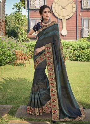 Chanderi Print Multi Colour Trendy Saree