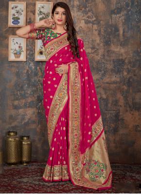 Charismatic Banarasi Silk Reception Classic Saree