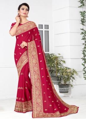 Charismatic Silk Patch Border Rani Traditional Saree