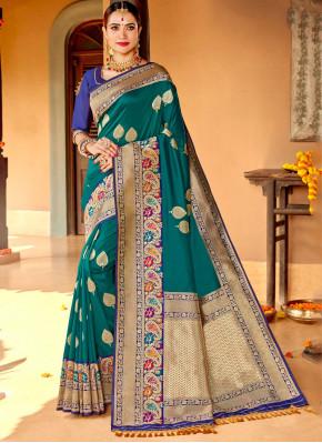 Charismatic Silk Reception Designer Saree