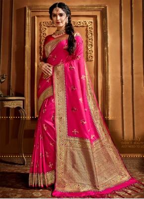 Charismatic Weaving Silk Magenta Silk Saree
