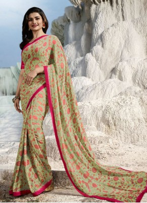 Charming Abstract Print Prachi Desai Faux Georgette Printed Saree