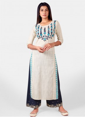 Charming Khadi Party Wear Kurti