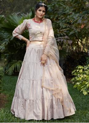 Charming Mauve  Cotton A Line Lehenga Choli