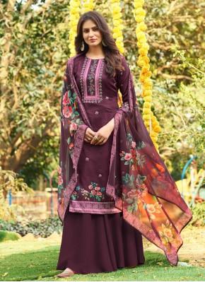 Cherubic Cotton Digital Print Designer Palazzo Salwar Kameez