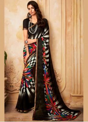 Cherubic Multi Colour Casual Printed Saree