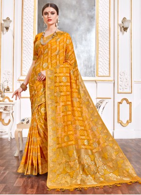 Cherubic Weaving Yellow Trendy Saree