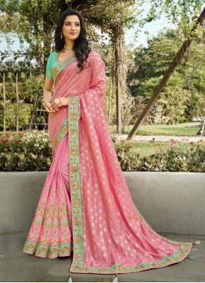 Chic Banarasi Silk Resham Classic Designer Saree