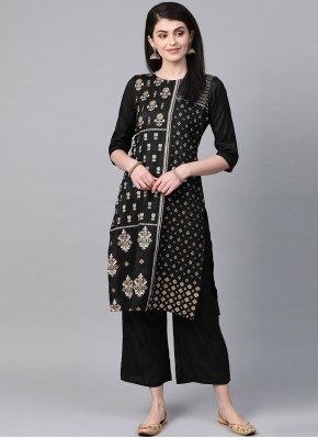 Chic Black Party Party Wear Kurti