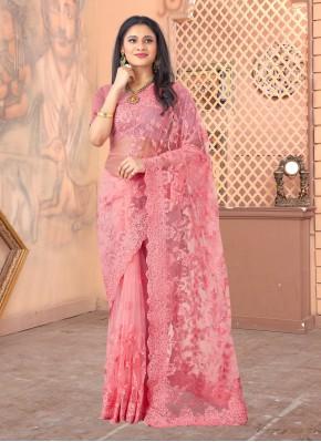 Chic Net Resham Designer Saree