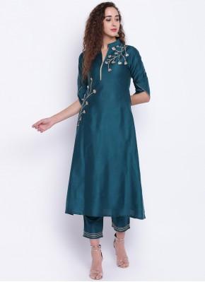 Chic Rama Cotton Silk Party Wear Kurti
