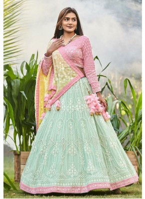 Chiffon A - Line Lehengha choli for Engagement