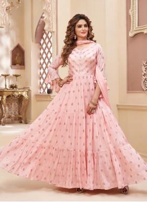 Chiffon Anarkali Salwar Suit for Part Wear