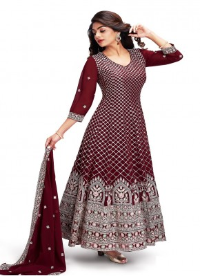 Chiffon Anarkali Suit for Party