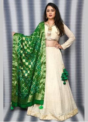 Chiffon Bandhej Print Readymade Lehenga Choli