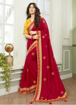 Chitrangada Singh Fancy Fabric Patch Border Classic Designer Saree
