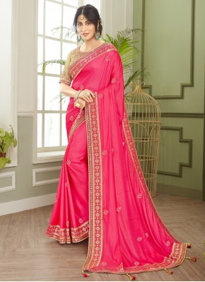 Chitrangada Singh Pink Fancy Fabric Resham Traditional Designer Saree