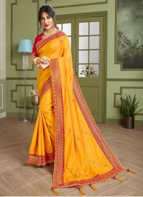 Chitrangada Singh Yellow Embroidered Trendy Saree