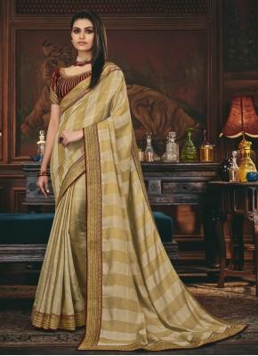Classical Embroidered Mehndi Traditional Designer Saree