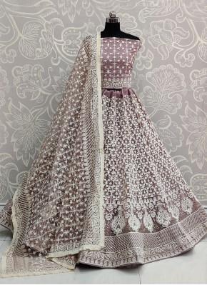 Classical Lavender A Line Lehenga Choli