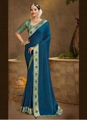 Classy Chanderi Patch Border Traditional Designer Saree