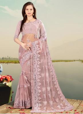 Compelling Lavender Designer Saree