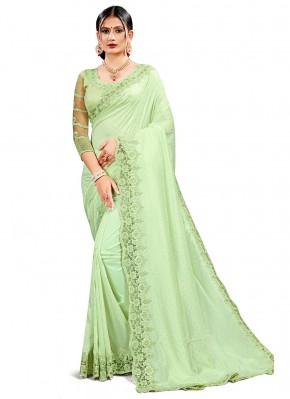 Compelling Sequins Crepe Silk Classic Designer Saree