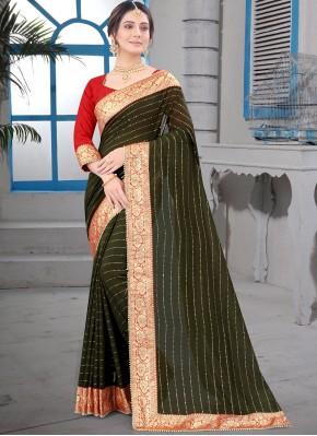 Compelling Silk Bollywood Saree