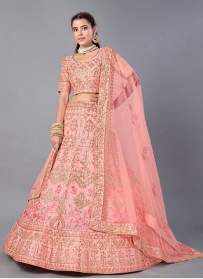 Competent Embroidered Art Silk Trendy Lehenga Choli
