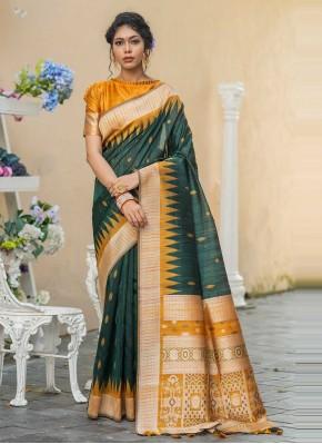 Competent Green Designer Traditional Saree