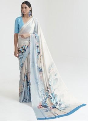 Congenial Digital Print Multi Colour Saree