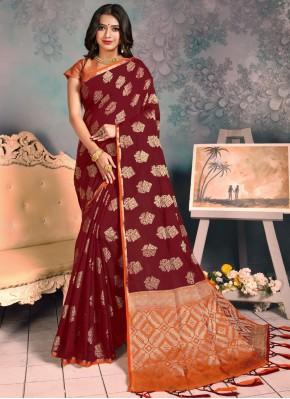 Congenial Weaving Festival Trendy Saree