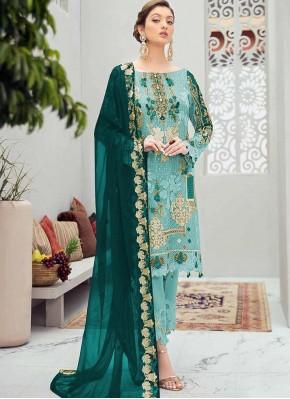 Conspicuous Net Designer Pakistani Salwar Suit
