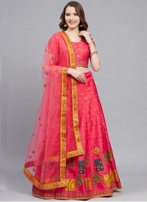 Conspicuous Pink Designer Lehenga Choli