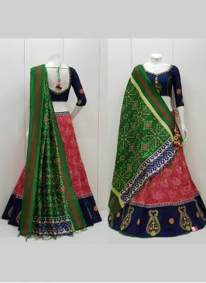 Cotton  Aari Work Readymade Lehenga Choli
