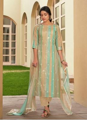 Cotton Embroidered Multi Colour Designer Suit