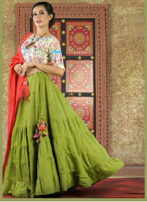 Cotton  Garba Wear Chaniya Choli