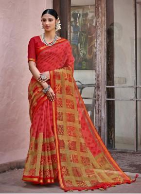 Cotton Printed Multi Colour Printed Saree