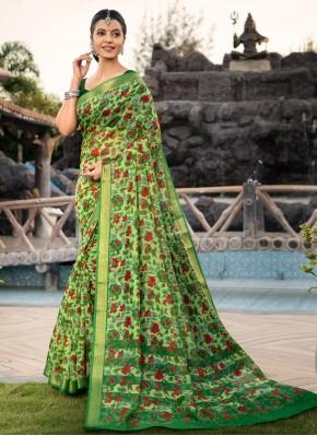 Cotton Silk Multi Colour Designer Saree