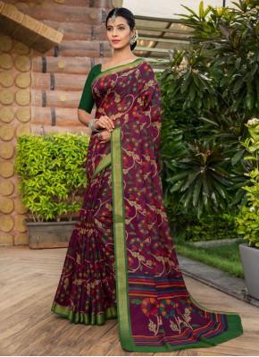 Cotton Silk Weaving Multi Colour Bollywood Saree