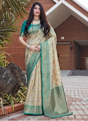 Cream Color Traditional Designer Saree