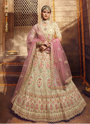 Cream Organza Sangeet Bollywood Lehenga Choli