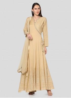 Cream Party Anarkali Salwar Suit